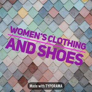 Women's clothing, shoes and accessories!